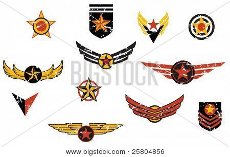 Fictional military emblems logos