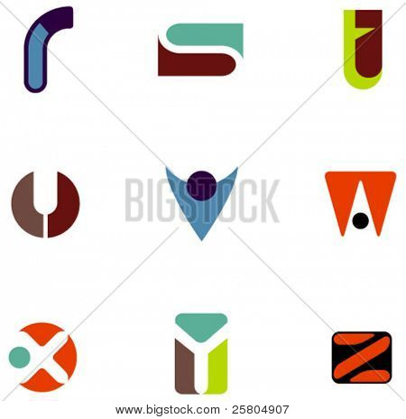 letter icons