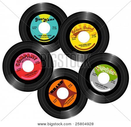 vintage 45 record labels