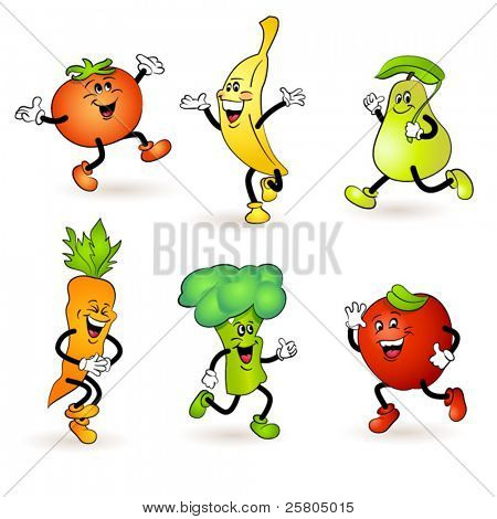 fruit and vegetable characters