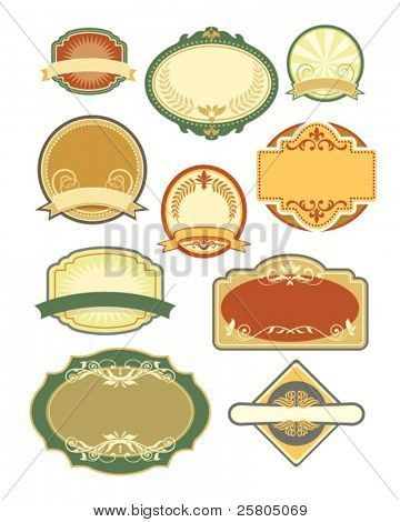 vintage labels set 4
