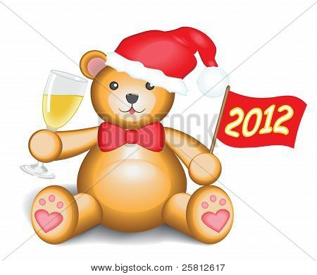 New Year teddy bear