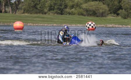 Sinking Snowmobile