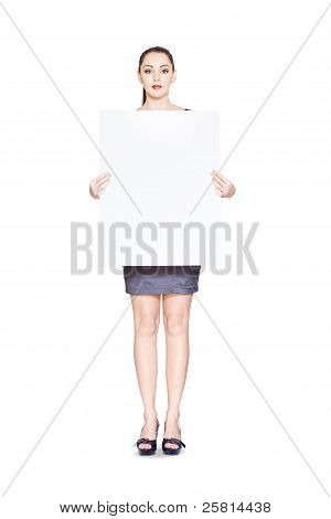 Cute Marketing Business Person With Empty Board