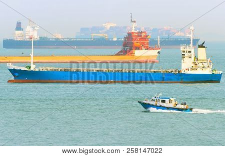 Commercial Industrial Cargo Ships In