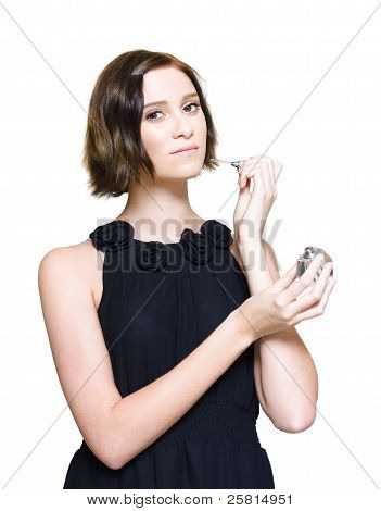 Woman Applying Perfume Fragrance
