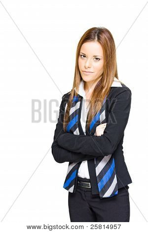 Business Professional Isolated On White Background