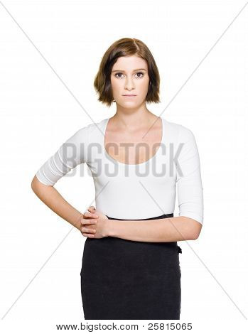 Confused Unsure And Hesitant Business Woman
