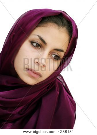 Girl In A Scarf Looking Down