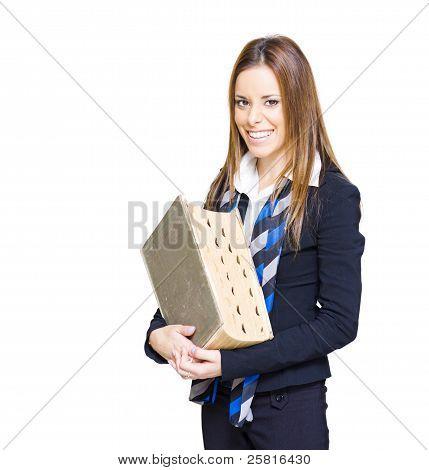 School Teacher Smiling Holding Education Textbook