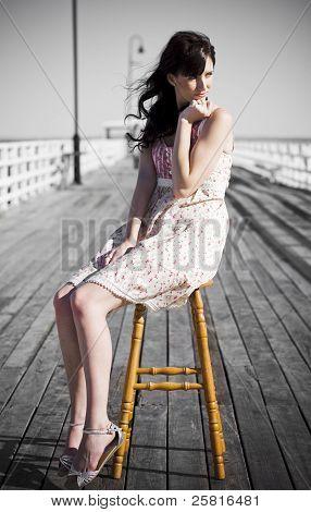 Pondering Pier Lady