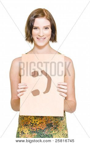 Smiling Person Holding Happy File