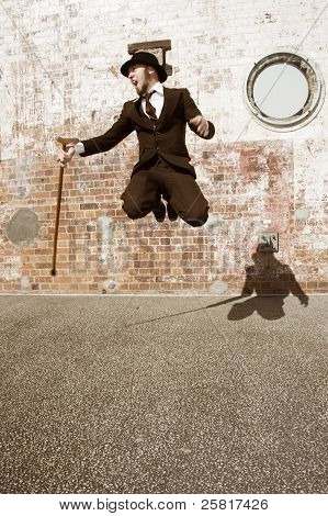 Man Jumping For Joy