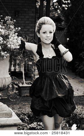 Elegant Gardening Lady