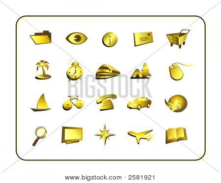 Icon Set - Gold