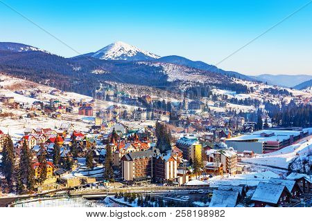 Scenic Winter View Of Mountain