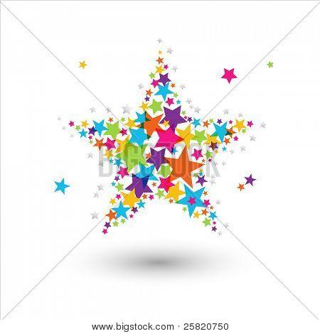 Estrellas colores