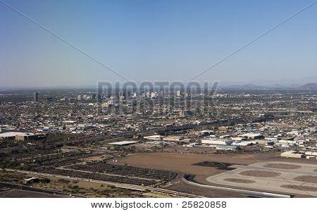 Bird-eye View of Phoenix, AZ