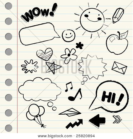Doodle/ sketch icons
