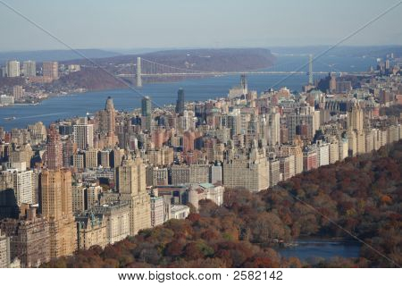 Aerial View Of George Washington Bridge