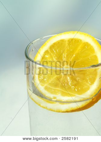 Slice Of Lemon In A Glass