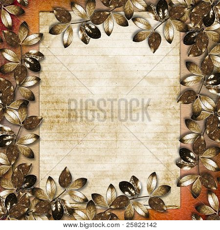 Framework For A Photo Or Congratulation. Abstract Background.