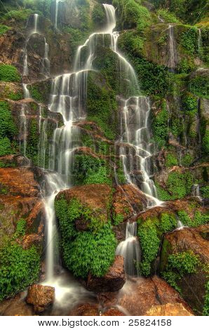 Silky Cascading Waterfall