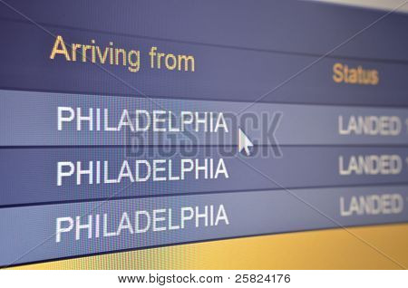 Flight Arriving From Philadelphia