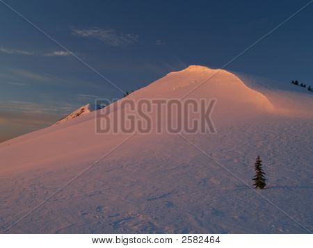Winter Alpenglow