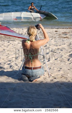 Taking Photos On The Beach