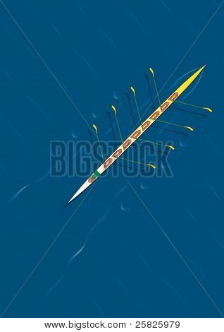 Rowing Team Diagonal