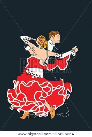 El tango en rojo y negro