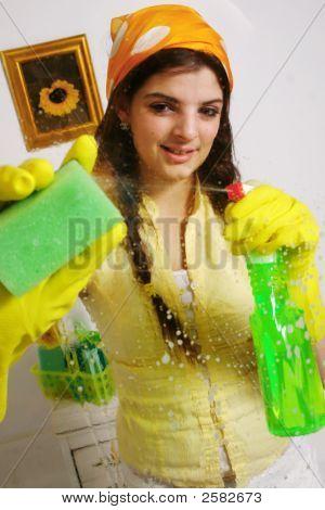 Washing The Window