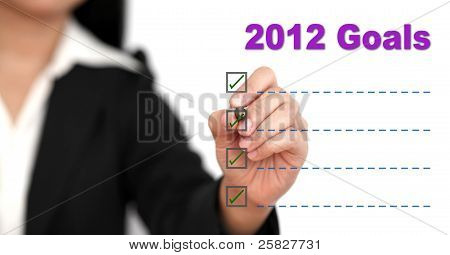Lista de objetivo de 2012