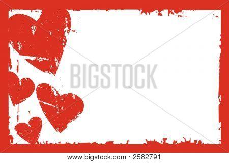 Vector Grunge Heart Frame