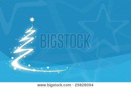 Modern christmas tree on blue background