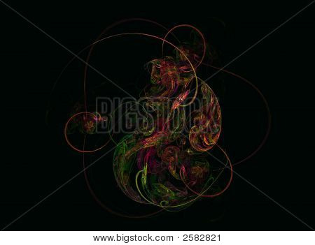 Fractal Paisley Like Abstract