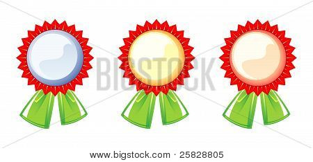 Set Of Labels Of The Awards, Three Colors