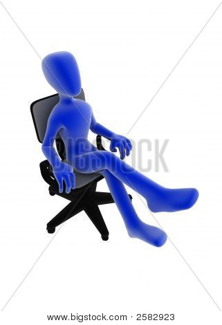 Office Worker, Side View