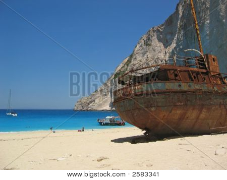 Famous Shipwreck On Zakynthos Greece 2