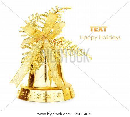 Golden Christmas Jingle Bell
