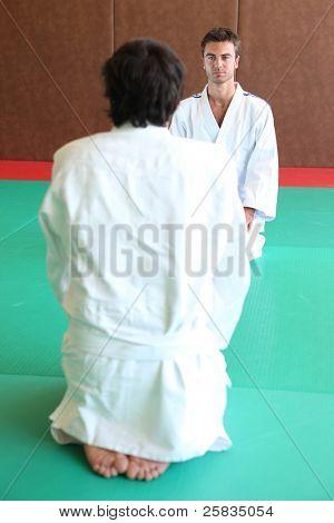 judokas on tatami