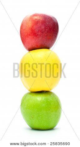 traffic light of apples