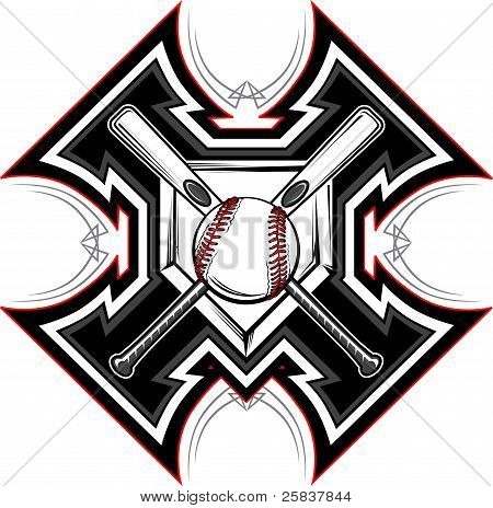 Baseball Softball Bats Graphic Vector Template