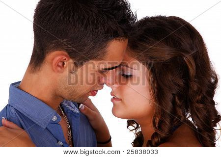 Couple In Love, Isolated On White Background