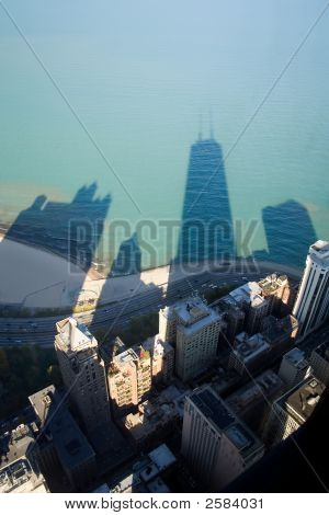 John Hancock Building Shadow On Lake Michigan