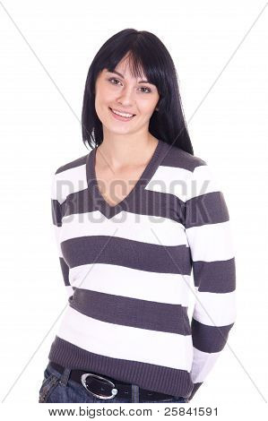 Girl In Striped Shirt