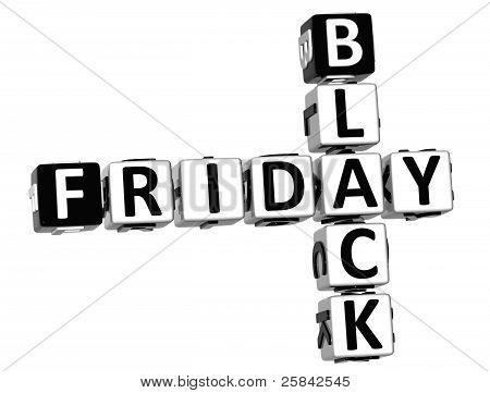3D Black Friday Crossword