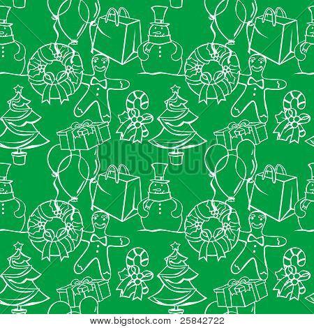 seamless background with christmass items