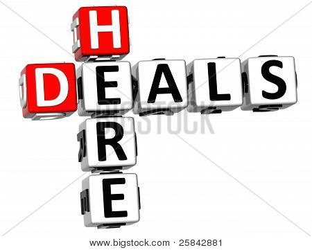 3D Deals Here Crossword